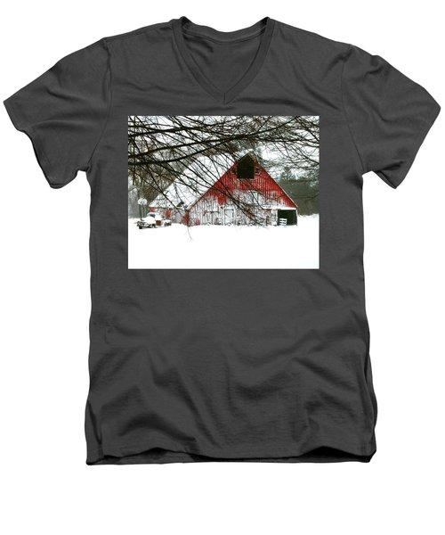April Blizzard Men's V-Neck T-Shirt