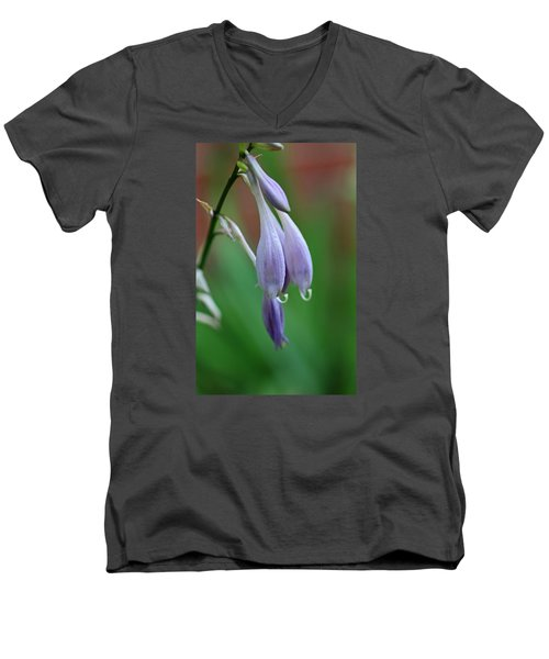 Men's V-Neck T-Shirt featuring the photograph April Ends by Michiale Schneider