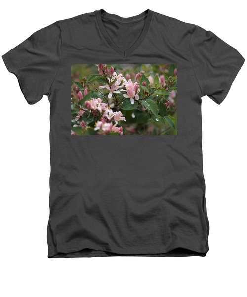 April Showers 8 Men's V-Neck T-Shirt by Antonio Romero
