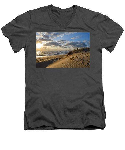April Sunrise 2016 Men's V-Neck T-Shirt