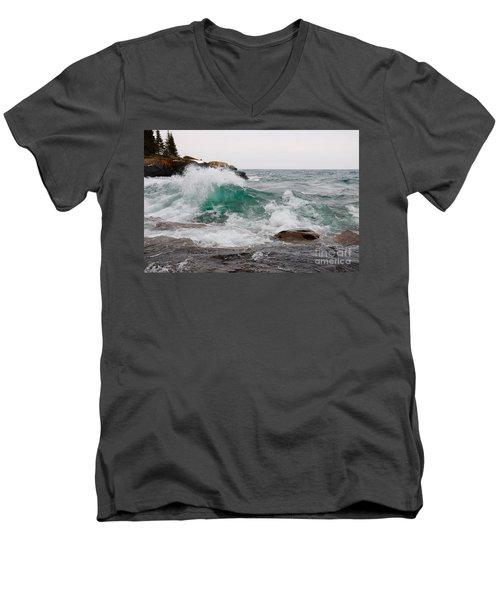 April Waves On Superior Men's V-Neck T-Shirt