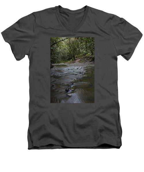 Aptos Creek -- Nisene Marks State Park Men's V-Neck T-Shirt