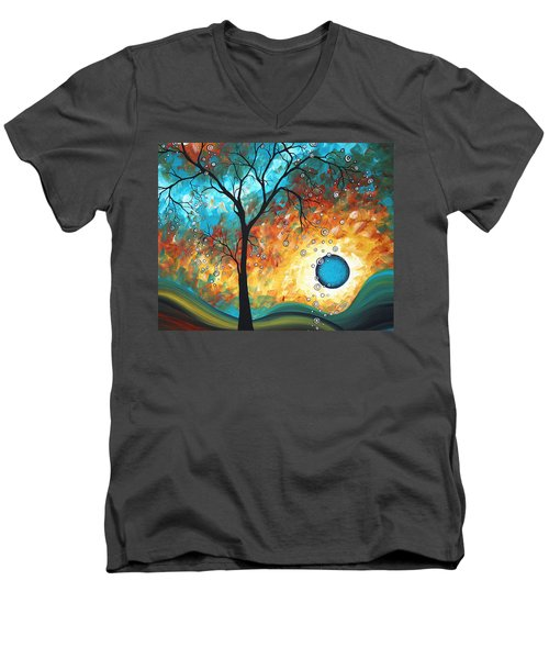 Aqua Burn By Madart Men's V-Neck T-Shirt