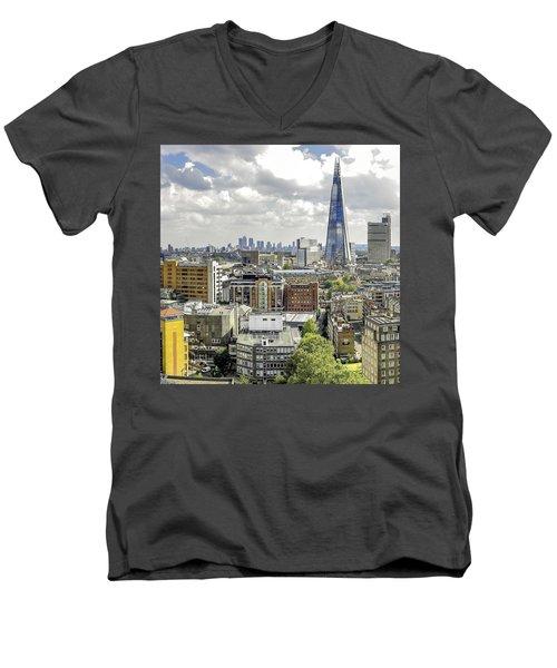 Aqua Shard  Men's V-Neck T-Shirt
