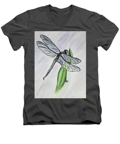 Aquamarine Men's V-Neck T-Shirt
