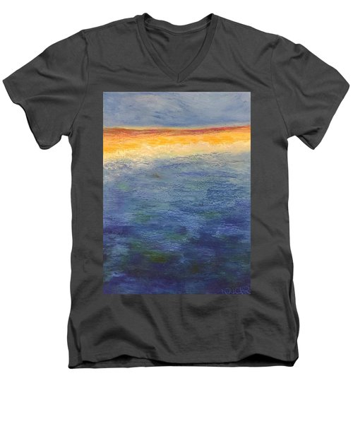 Aquamarine Men's V-Neck T-Shirt