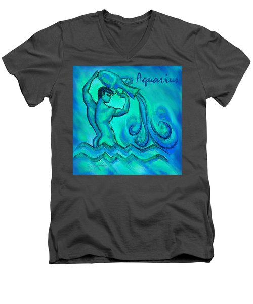 Aquarius Men's V-Neck T-Shirt