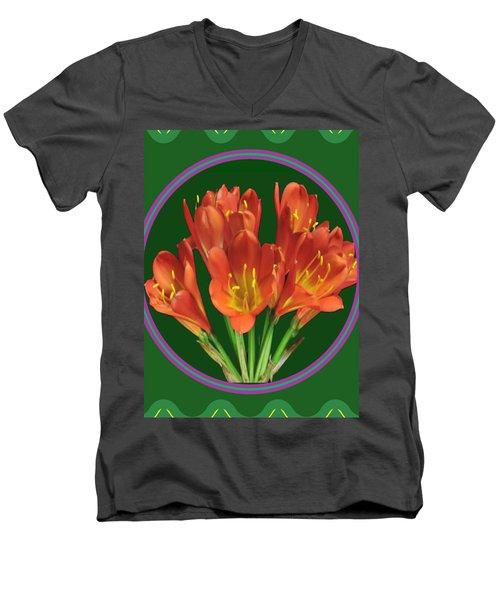 Aquilegia Formosa Flower Floral Photography N Graphic Fusion Art Navinjoshi Fineartamerica Pixels Men's V-Neck T-Shirt