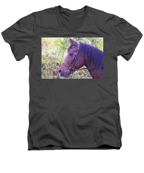 Men's V-Neck T-Shirt featuring the digital art Arabian Beauty by Barbara S Nickerson