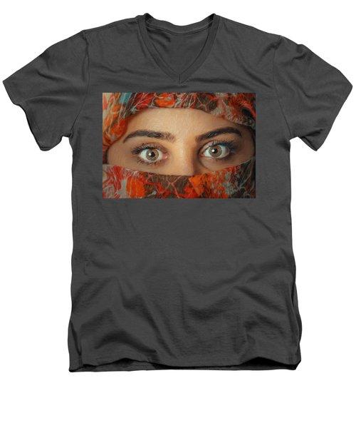 Arabian Beauty Men's V-Neck T-Shirt