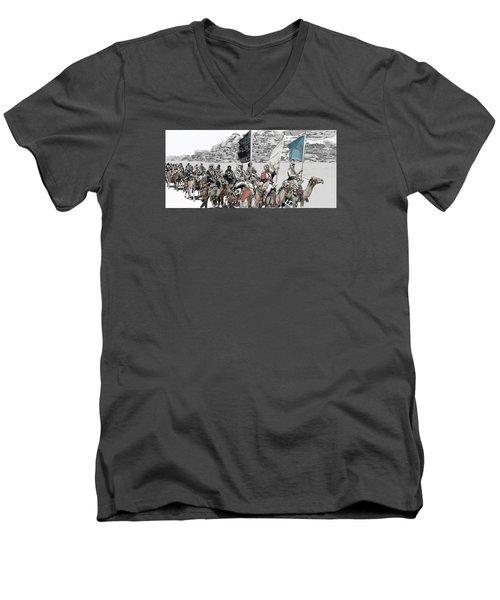 Arabian Cavalry Men's V-Neck T-Shirt by Kurt Ramschissel
