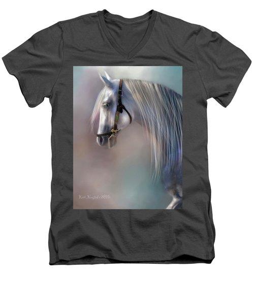 Arabian Grey Men's V-Neck T-Shirt by Kari Nanstad