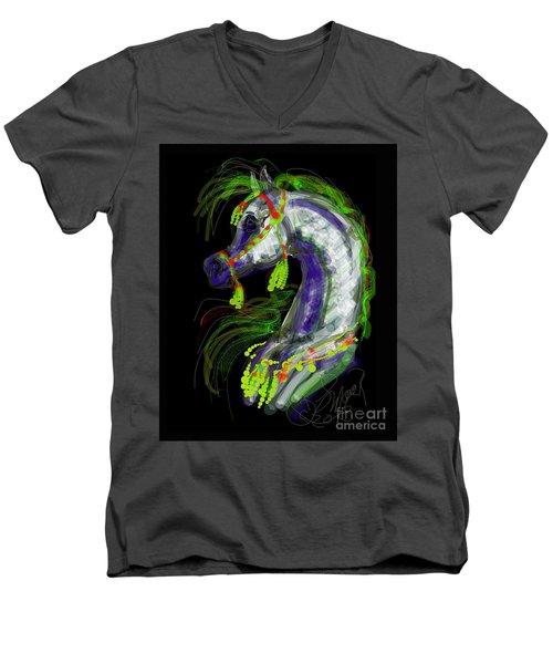 Arabian With Green Tassles Men's V-Neck T-Shirt