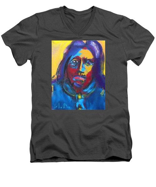 Arapaho Scout Sharp Nose Men's V-Neck T-Shirt