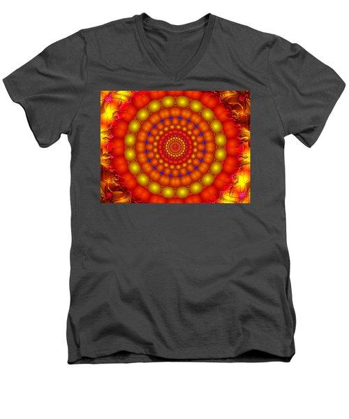 Men's V-Neck T-Shirt featuring the digital art Arcadian Sky by Robert Orinski