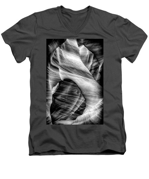 Arch In The Slots Men's V-Neck T-Shirt by David Cote
