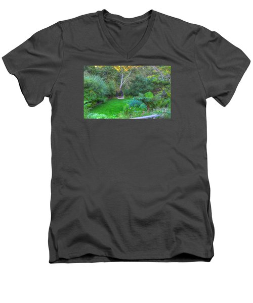 Arch Scene In The Green Men's V-Neck T-Shirt