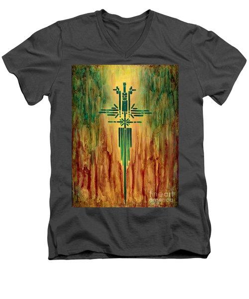 Archangel Michael Men's V-Neck T-Shirt