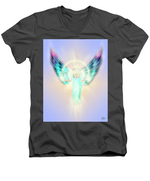 Archangel Uriel - Pastel Men's V-Neck T-Shirt