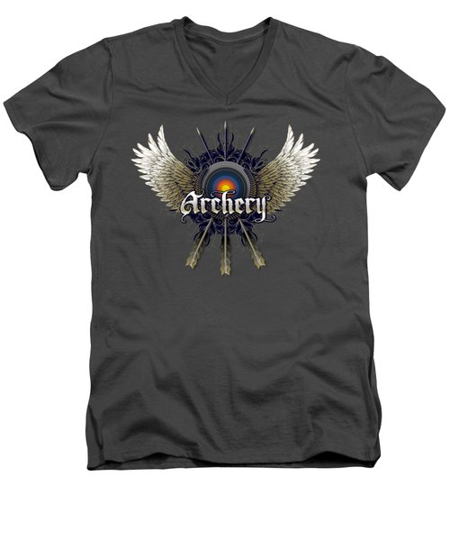Archery Wings Men's V-Neck T-Shirt