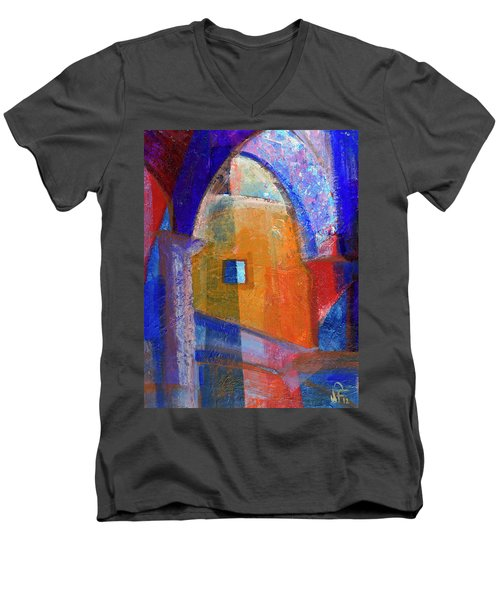 Arches And Window Men's V-Neck T-Shirt by Walter Fahmy