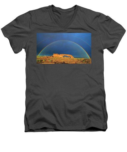 Arching Over Men's V-Neck T-Shirt