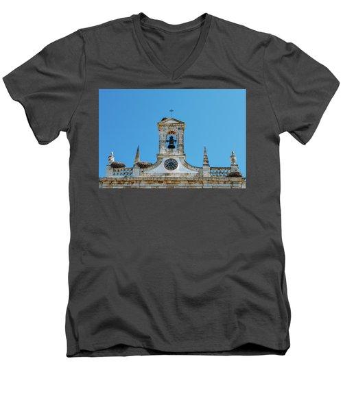 Arco De Vila, Faro, Algarve, Portugal Men's V-Neck T-Shirt