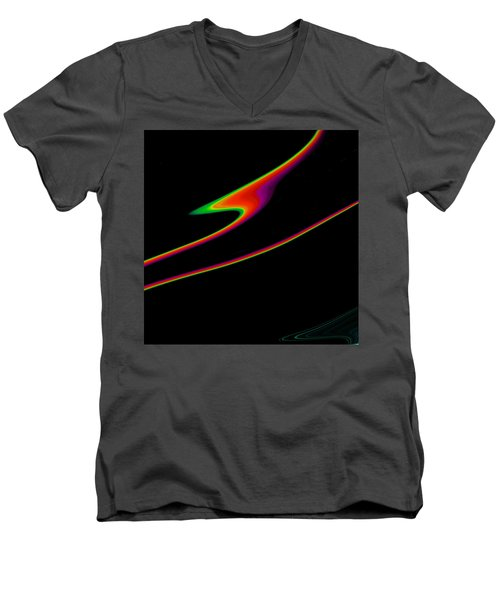 Men's V-Neck T-Shirt featuring the painting Arcs  C2014 by Paul Ashby