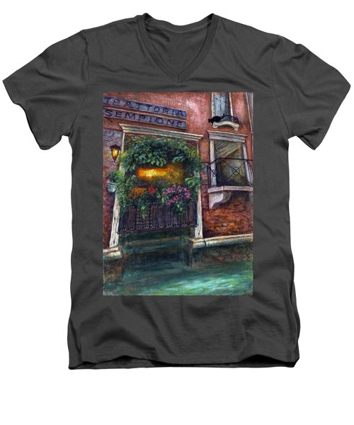 Are You There My Love? Men's V-Neck T-Shirt by Retta Stephenson