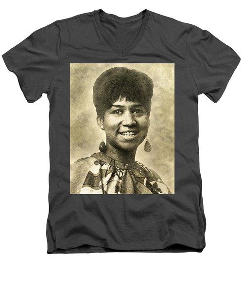 Aretha Franklin Queen Of Soul Men's V-Neck T-Shirt