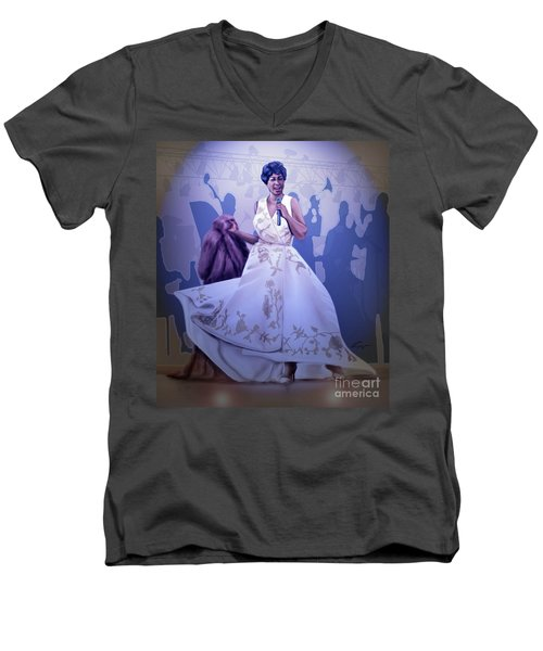 Aretha Franklin Rock Steady Men's V-Neck T-Shirt