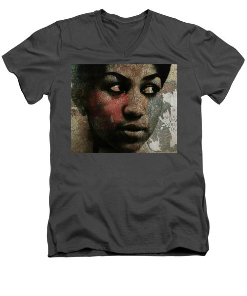 Aretha Franklin - Tribute Men's V-Neck T-Shirt