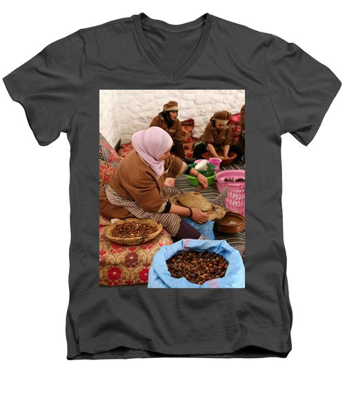 Men's V-Neck T-Shirt featuring the photograph Argan Oil 2 by Andrew Fare