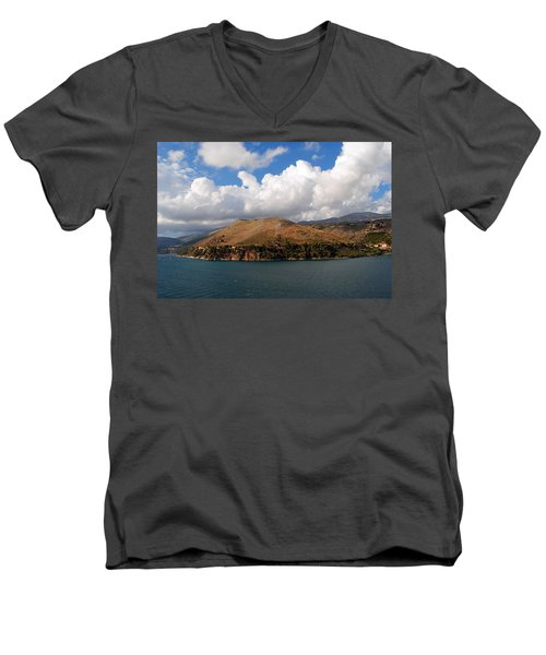 Argostoli Greece Men's V-Neck T-Shirt by Robert Moss