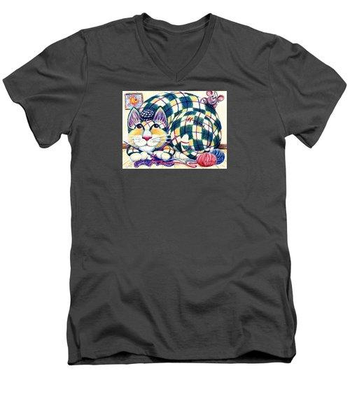 Argyle Men's V-Neck T-Shirt
