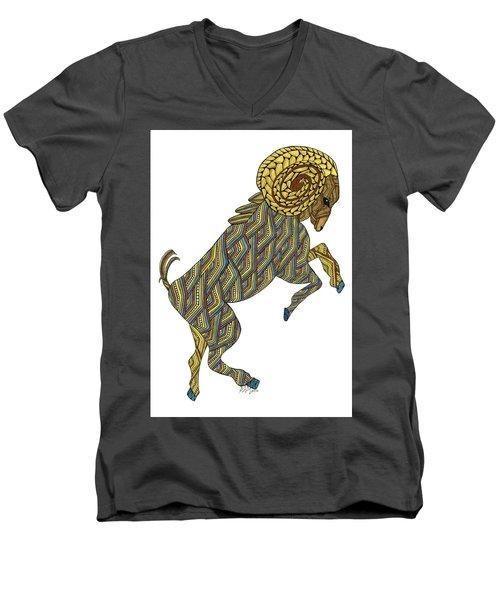 Aries Men's V-Neck T-Shirt
