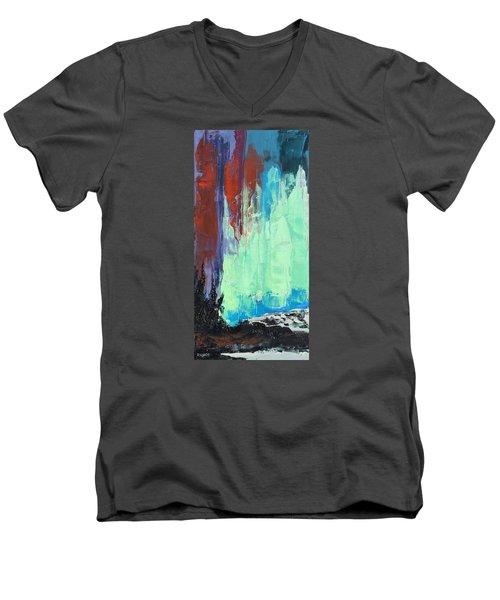 Arise Men's V-Neck T-Shirt by Nathan Rhoads
