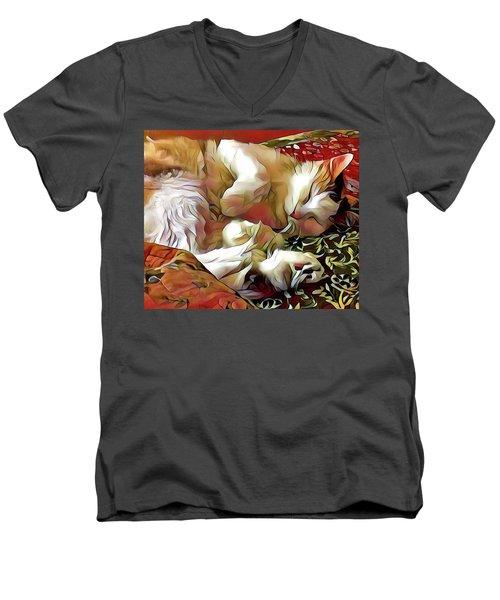 Aristokitty Men's V-Neck T-Shirt