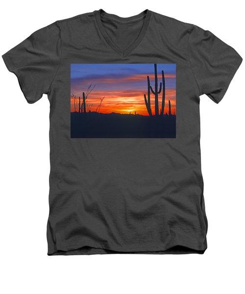 Arizona Desert Sunset Men's V-Neck T-Shirt