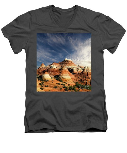 Men's V-Neck T-Shirt featuring the photograph Arizona North Coyote Buttes by Bob Christopher