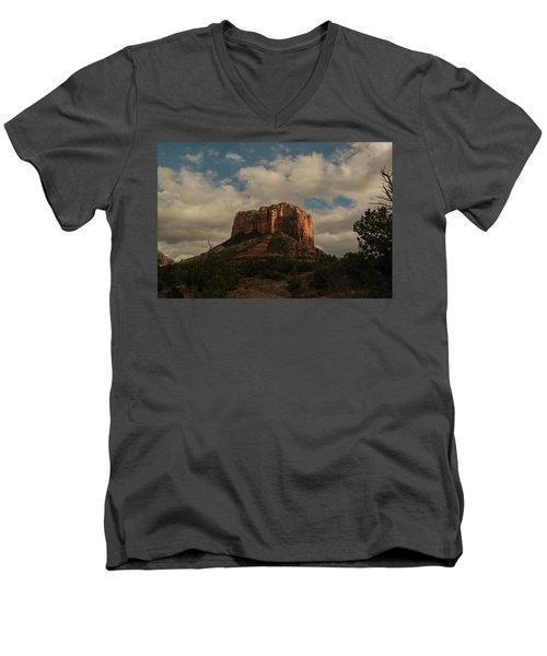 Arizona Red Rocks Sedona 0222 Men's V-Neck T-Shirt by David Haskett