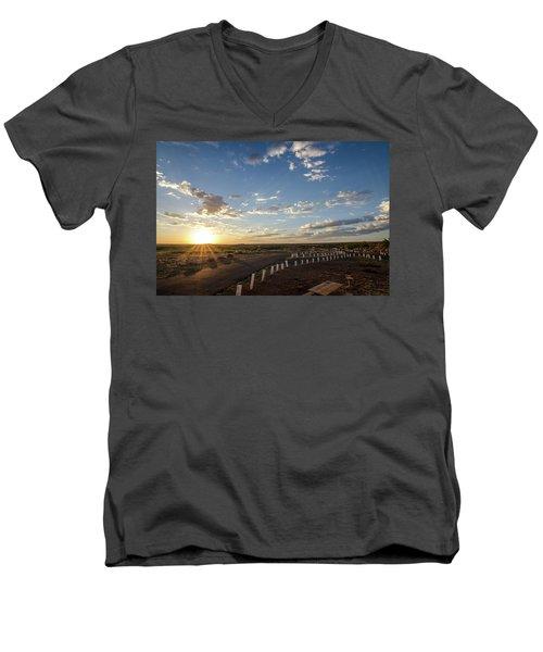 Arizona Sunrise Men's V-Neck T-Shirt
