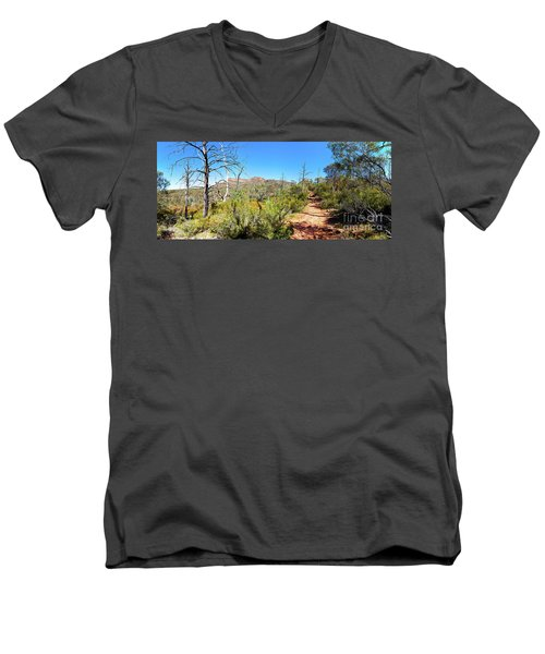 Arkaroo Rock Hiking Trail.wilpena Pound Men's V-Neck T-Shirt by Bill Robinson