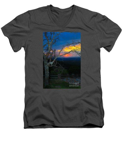 Arkansas Sunset II Men's V-Neck T-Shirt by John Roberts
