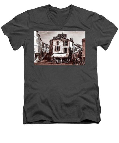 Arles, France, In Sepia Men's V-Neck T-Shirt