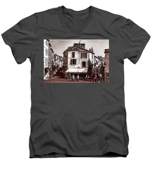 Arles, France, In Sepia Men's V-Neck T-Shirt