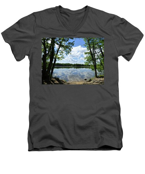 Arlington Reservoir Men's V-Neck T-Shirt