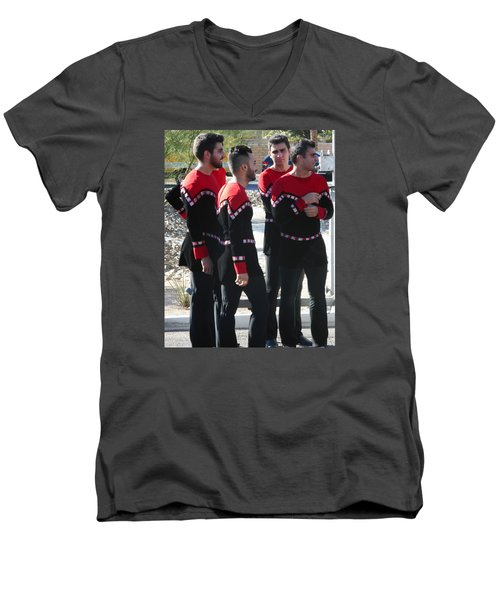 Armenian Dancers 12 Men's V-Neck T-Shirt