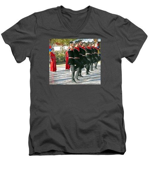 Armenian Dancers 13 Men's V-Neck T-Shirt