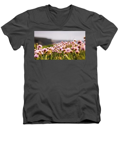 Armeria Men's V-Neck T-Shirt by Keith Sutton
